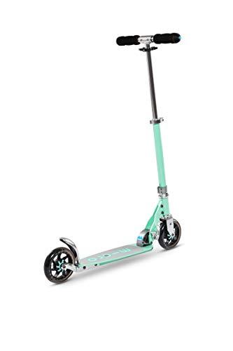 Micro Mobility - Trottinette Speed+ - Élégante citadine compacte et Anti-Vibrations - Couleur Mint - Poignées rabattables - 100% Aluminium - Ado et Adulte