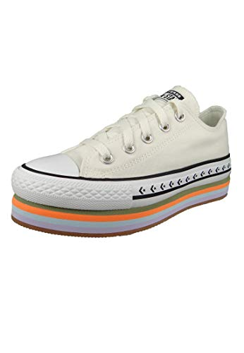 Converse Chucks 567847C Chuck Taylor All Star Platform Layer Egret Total - Plataforma, color Beige, talla 38 EU