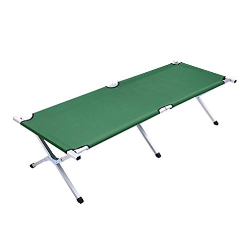 ABOOFAN Hopfällbar metall säng hoprullad gästsäng hopfällbar möbelutrustning för camping (grön)
