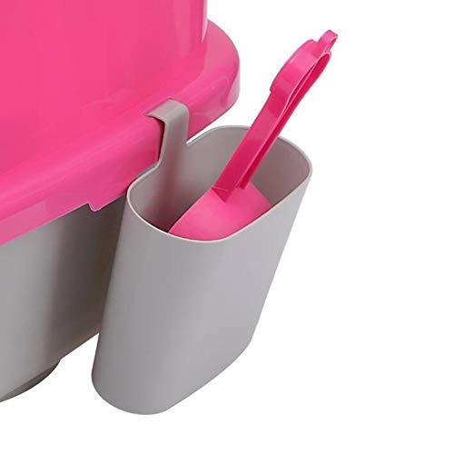 XIYAO Katzenstreu Schaufel Set, Hängende Katzenstreuschaufel mit hängendem Eimer Sauber und hygienisch Katzenstreu Zubehör Werkzeug