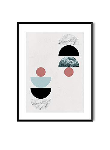 MILUKA Láminas Decorativas para enmarcar colección Geometric | Geometric Sun | Tamaño 20x30cm, 30x40cm, 50x70cm (30 x 40 cm)