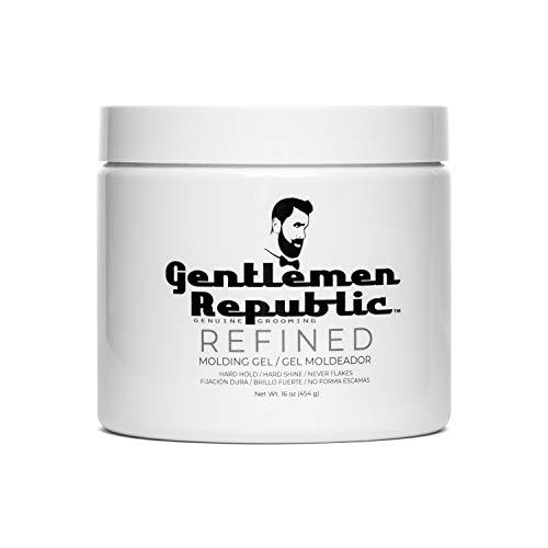 Gentlemen Republic 16oz Grooming Hard Hold & Shine Refined Mold Hair Styling Gel
