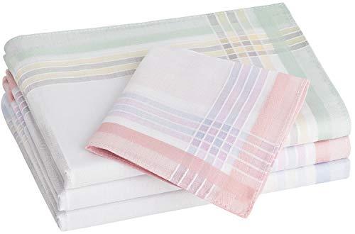 Tobeni 12 Stück Damen Taschentücher Stofftaschentücher Damentaschentücher Baumwolle Farbe Design 20 Grösse 30 cm x 30 cm
