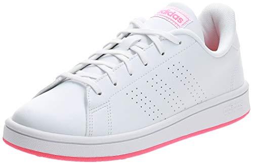 adidas Advantage Base, Zapatillas Hombre, FTWR White Signal Pink, 36 2/3 EU