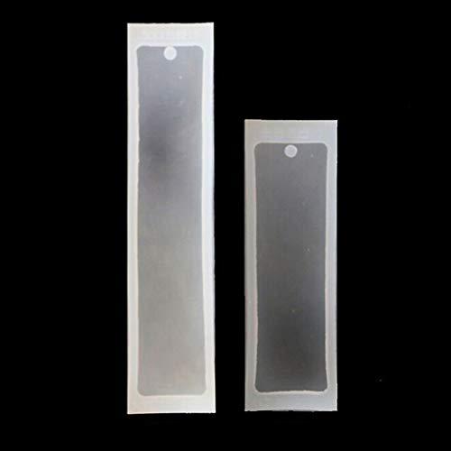 moldes de siliconaKit de moldes de silicona para joyería de resina epoxi de 2 piezas rectangulares de silicona para marcadores