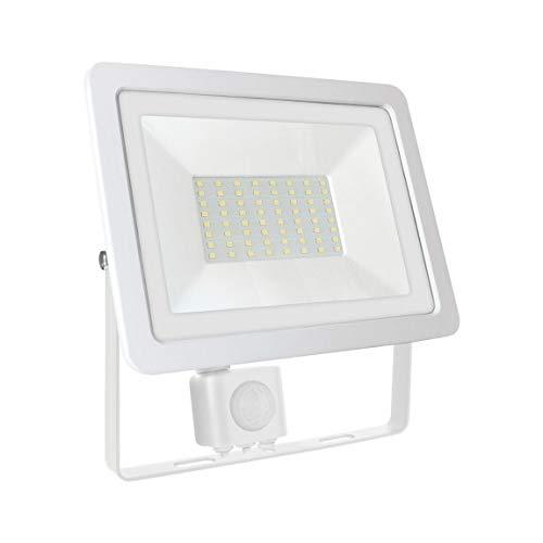 SpectrumLED Noctis Lux 2 Projecteur 50 W Blanc avec détecteur de mouvement Couleur au choix 6000 K blanc froid.