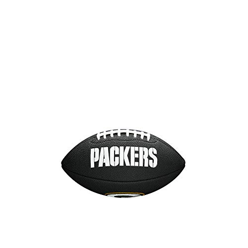 Wilson, Palla da football americano, Mini NFL Team Soft Touch, Green Bay Packers, Per giocatori amatoriali, Nero, WTF1533BLXBGB