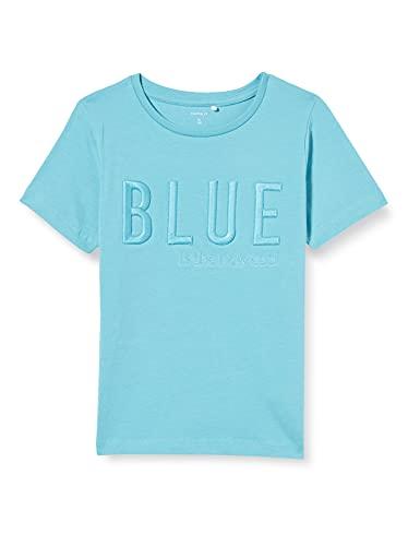 NAME IT Jungen NMMDAMO SS TOP T-Shirt, Aqua, 110