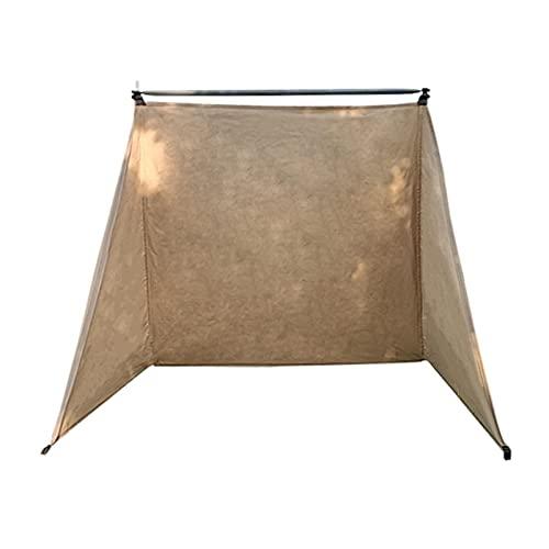 WOTEG - Paravientos para camping y biombo plegable, cortavientos para balcón, protección contra el viento de camping, ligero, compacto una vez plegado.