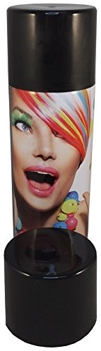 G&M Color Haarspray 250ml | 7 Farben | Haarfarben Fasching Karneval Halloween farbig (Schwarz)
