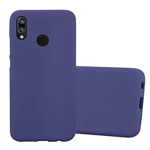 Cadorabo Funda para Huawei P20 Lite en Frost Azul Oscuro - Cubierta Proteccíon de Silicona TPU Delgada e Flexible con Antichoque - Gel Case Cover Carcasa Ligera