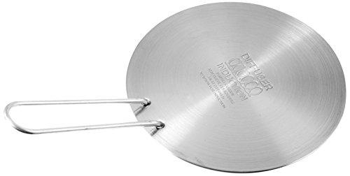 Ilsa inductieplaat, rond, roestvrij staal, diameter 21 cm