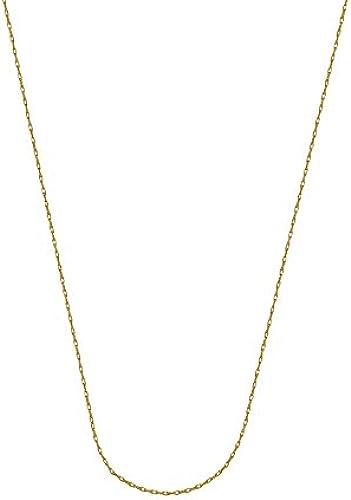 14  GelbGold 0,7  Leichtes Seil Kette Halskette 5,5  Federring-Verschluss 46cm