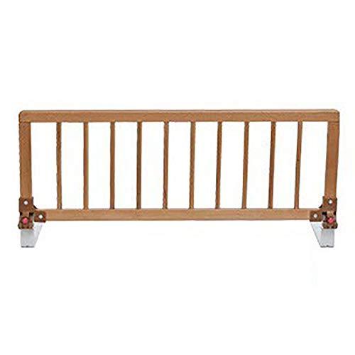 Barrières de lit- Garde-Corps en Bois pour Tout-Petit, Baby Long Bedrail Traversez Le Rail du Lit pour Les Lits Superposés, Bois Couleur (Color : 15-20cm Thickness Mat, Size : 88cm)