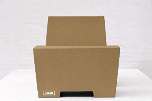 ROOM IN A BOX Stehschreibtisch Monkey Desk Large/Natur: Faltbares ergonomisches Stehpult, praktischer Ständer für Laptop, PC, Tablet und Monitor, klappbarer Standing Desk für den Schreibtisch