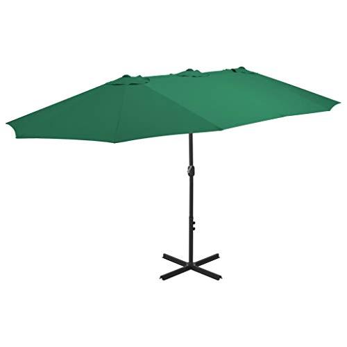 Festnight Parasol de Jardin Parasol d'extérieur Parasol en Aluminium pour Patio 460 x 270 cm Vert