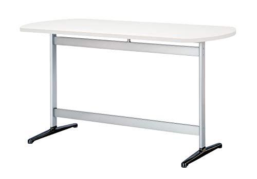 Tee 会議テーブル ボート型 幅150cmx奥行75cm 天板ホワイト 黒脚 シルバー脚 RSS3-GA1575A-NV 国内正規品