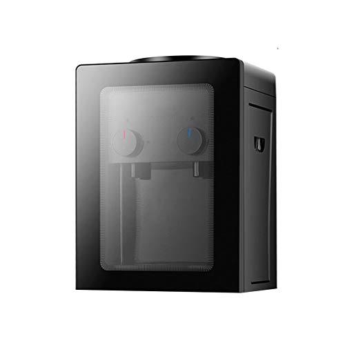 Mini Dispensador De Agua Embotellada De Agua Fría Y Caliente Dispensador Vertical De Hielo Y Agua Caliente (Color : Black, Size : 27 * 23.5 * 37cm)