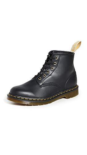 Dr. Martens unisex adult Vegan 101 Fashion Boot, Black Felix Rub Off, 13 Women 12 Men US