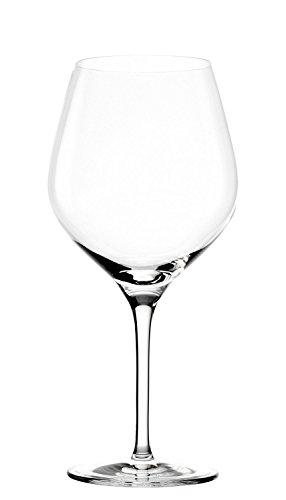 Copas para vino tinto Exquisit tipo Borgoña de Stölzle Lausitz, de 650 ml, juego de 6, aptas para lavavajillas: Copas de alta calidad para vino tinto, fabricadas en cristal resistente a roturas, elegantes y finas.