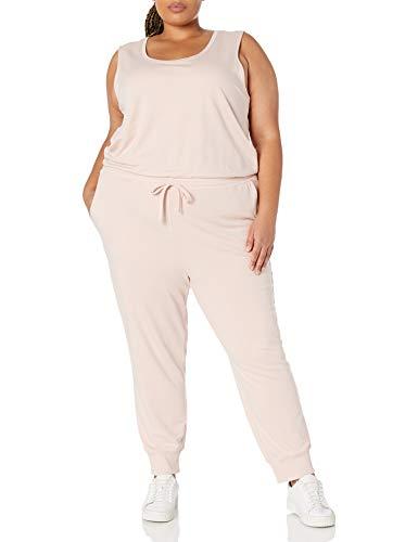 Amazon Essentials Studio Terry Fleece Jumpsuits-Apparel, Hellrosa, XS