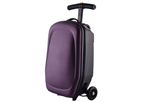 TRYSHA Scooter Bagage Trolley Case Skateboard Koffer 21 In (Color : Purple)