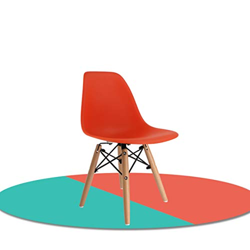 CJH Kinderstoel Plastic Rugleuning Stoel Studentenstoel Student Training Stoel Kruk, Oranje