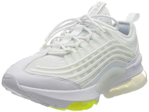 Nike W Air Max ZM950, Scarpe da Corsa Donna, White/Mtlc Summit Wht-Barely Volt-Volt-Platinum Tint, 36 EU