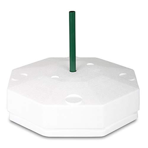 Eisfreihalter für Gartenteich | Styropor Eisfreihalter von WAGNER GREEN | 8-Eckig 40cm mit Lüftungsrohr und Deckel | Hilft den Teich im Winter Eisfrei zu halten - Anti Ice Device