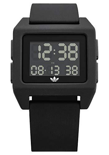 Adidas Herren Digital Uhr mit Silikon Armband Z15-001-00