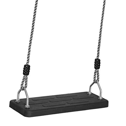 Klettergeräte Schaukeln Langlebig Sitz schaukel Platte Gummi schaukel Erwachsene Kinder schaukel Outdoor schaukel Sitz Platte bequem Swing (Color : Black, Größe : 45 * 19CM)