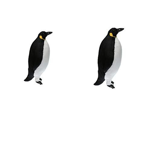 non-brand Sharplace 2X Pingouin Artificiel Animaux Sculptures Statues de Jardin - L + M