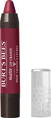 Burts Bees 100% Natural Origin Moisturizing Matte Lip Crayon, Napa Vineyard - 1 Crayon