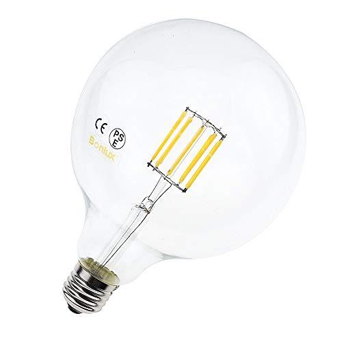 Bonlux 10W G125 E27 LED filamento vidrio mundo Natural blanco 4000K 12