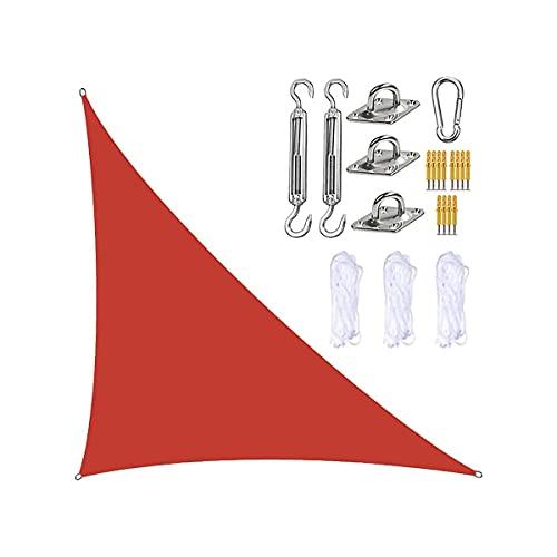 BABYCOW Toldo de Vela con Parasol Impermeable con Kit de fijación, Triángulo 98% Bloque UV Protector Solar Toldos de toldo de Vela en ángulo Recto, para Patio, jardín, jardín, Patio Trasero, Refugio
