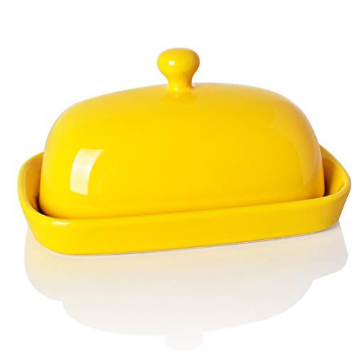 Sweejar Ceramics Butter Dish with lid keeper