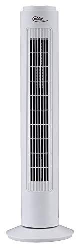 Elta Turmventilator TF-45.2 (Tower-Fan, Automatische 90° Oszillation, Abschaltfunktion, 120 min Timer, 3 Geschwindigkeiten, 73cm Höhe, sicherer Stand), Farbe:Weiss