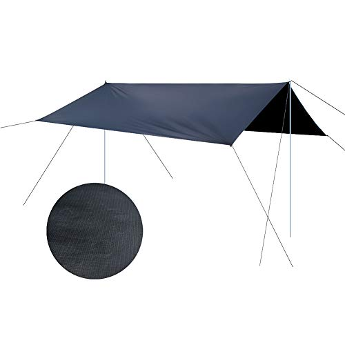 Leobtain Impermeable Toldo Jardín y Camping Picnic al Aire Libre Patio Fiesta Protector Solar Toldo Toldo Tienda de Campaña Grande Lona Toldo Portátil Refugio con Protección Solar