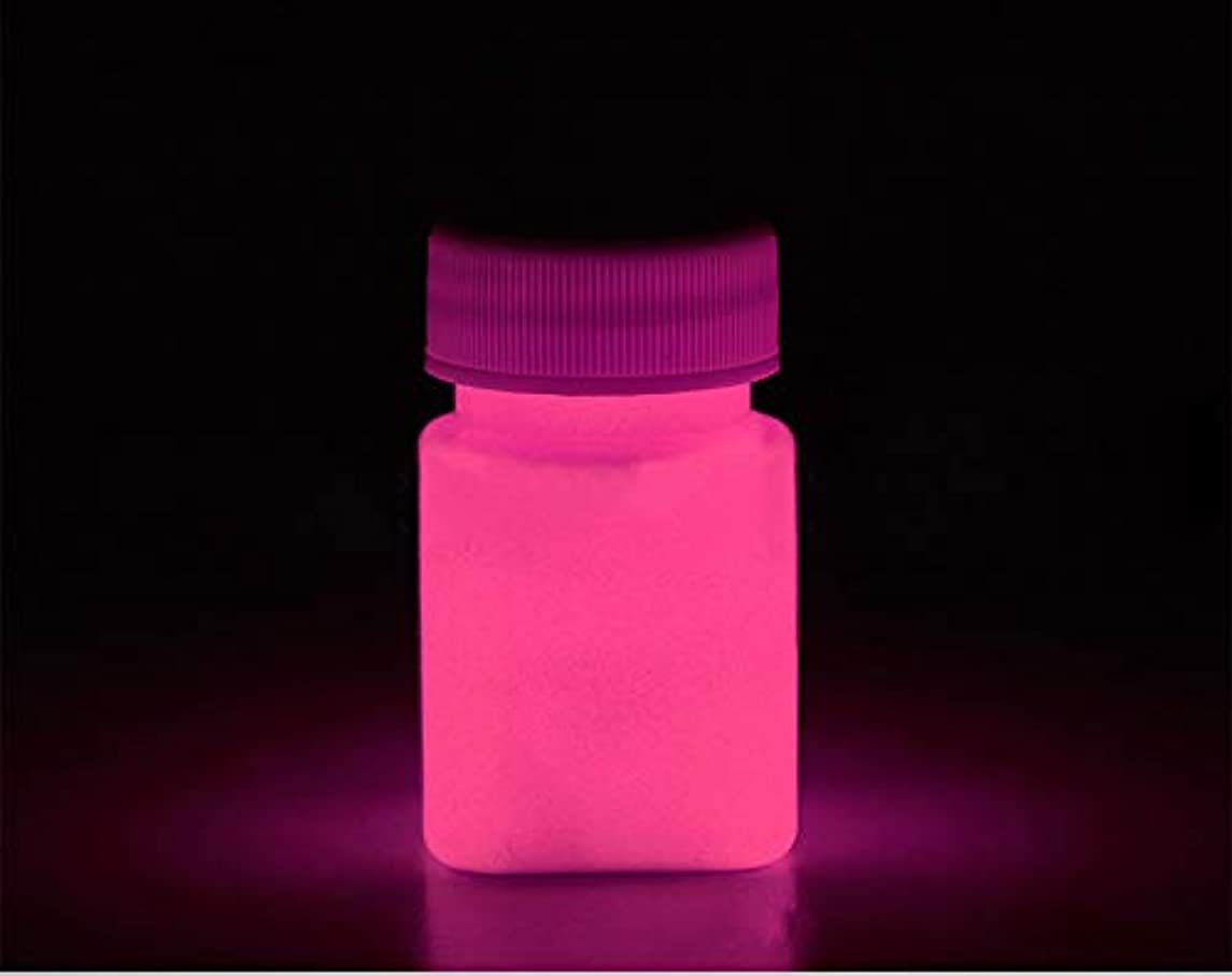 Glow in The Dark Paint Water Based Acrylic Materials -1 Ounce - 6 Colors (Pink)