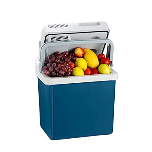 XIAOLIN 36w - 21 L Refrigerador Eléctrico/Cálido, Azul, Refrigerador De Coche Portátil 12/220 V, Mini Nevera, Caja Fría para Vehículos De Viaje De Barcos RV Camión De Picnic