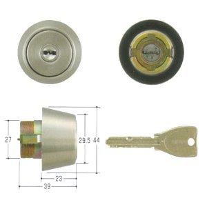 MIWA(美和ロック) PRシリンダー BHタイプ 鍵 交換 取替え MCY-223 BH/LD/DZステンレスへヤーライン色(ST)33〜41mm