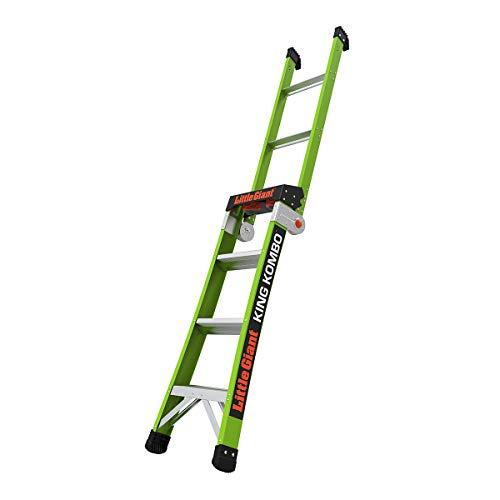 Little Giant Ladder Systems 13470-001 King Kombo 3-in-1 Ladder, 4 Ft, Green
