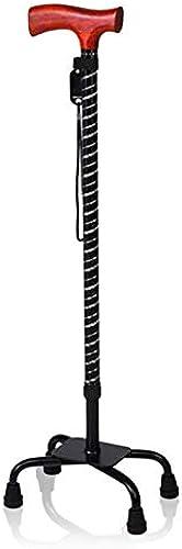 en marchant stick stool Canne de Vieil Homme, Canne à Quatre Pieds télescopique, Canne antidérapante