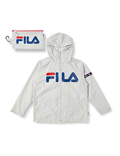 [フィラ] FILA レインパーカー 男女兼用 レディース メンズ 婦人 紳士 撥水 全3色 2サイズ グレー 日本 Lサイズ (日本サイズL相当)