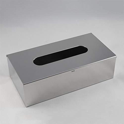 EU-NING Sellador de escritorio caja de almacenamiento de papel dispensador estante hogar acero inoxidable impermeable caja de tejido por defecto