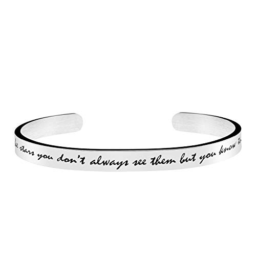 Joycuff Friendship Bracelets for Best Friends Inspirational Bangle Quotes Saying Engraved Stainless Steel Jewellery