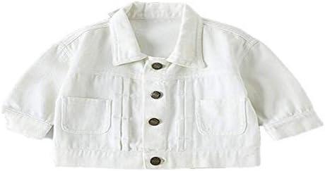 unbrand Boys Girls Kids Cute Bear Animal Print Long Sleeve Denim Jacket Baby Newborn Infant Toddler Spring Clothing