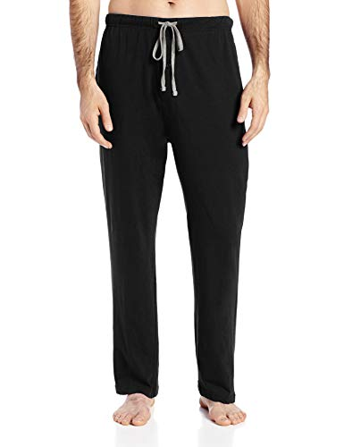 Hanes Men's Solid Knit Sleep Pant, Black, X-Large