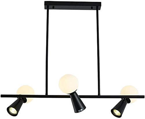 Rotatable Creative Chandelier Dining Table Chandelier Decorative Light Ceiling lamp Living Room Dining Room,Black