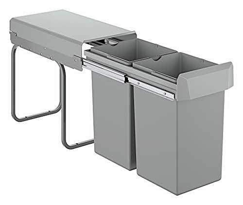 GROHE Blue Accessoires | Mülltrennsystem - Trennung 2-fach, 2 x 15 l | grau | 40855000